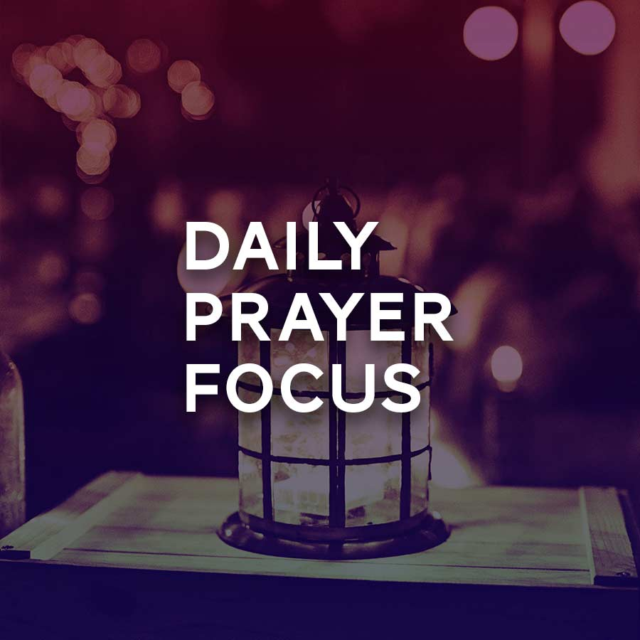 Printable sheet with daily prayer focus suggestions