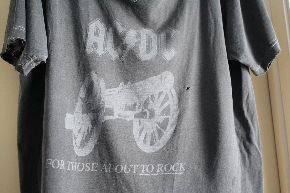 AC/DC gray vintage tee