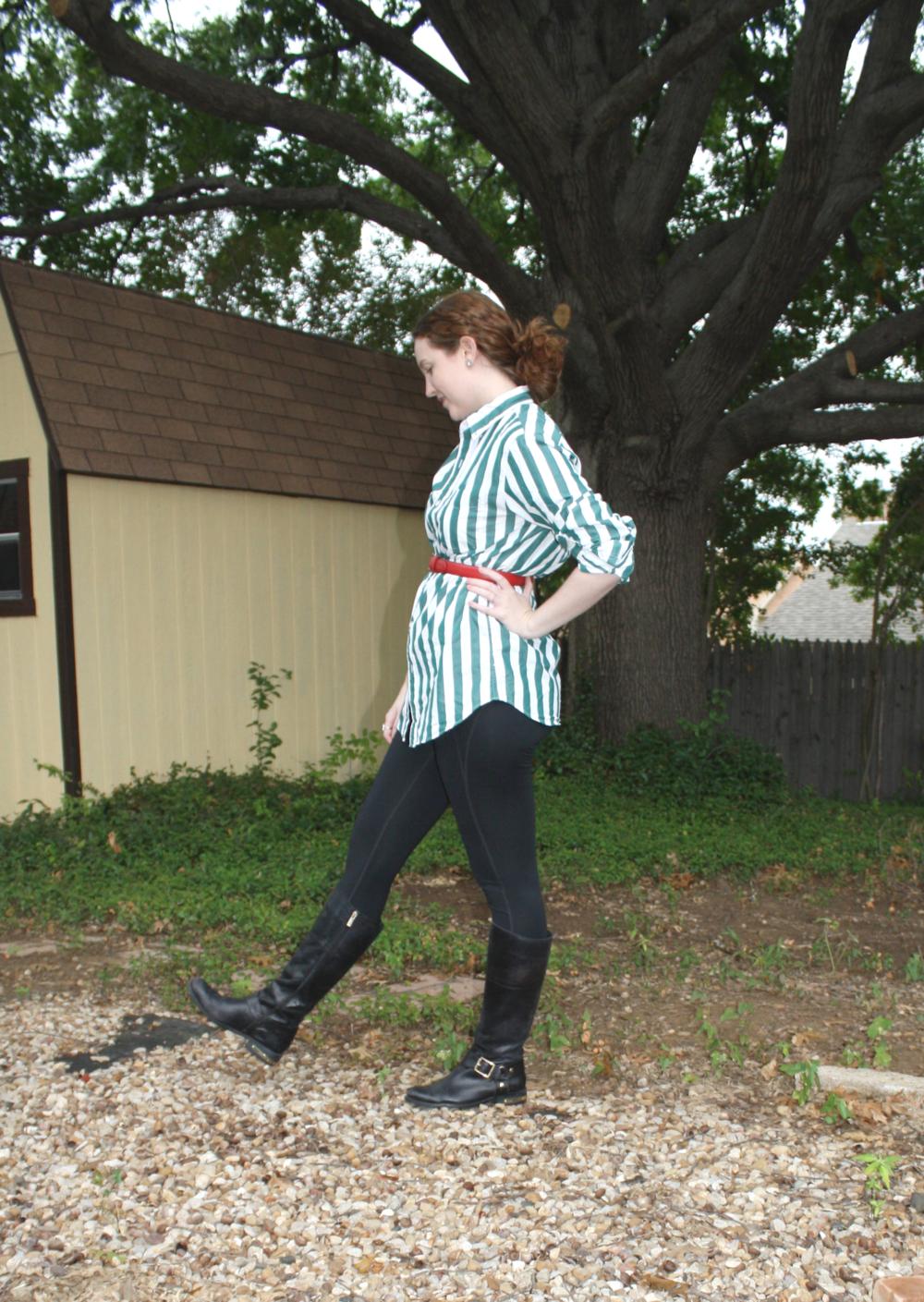 I am the pretend equestrian.