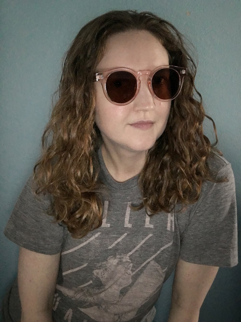 Styling the Spring Box of Style Accessories Bonnie Clyde Pink Sunnies with a grey tee.jpeg