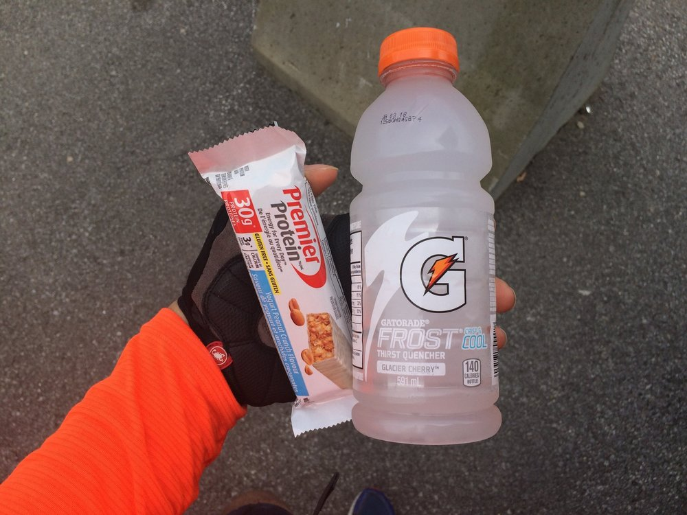 The quest to try every flavour of Gatorade and every protein bar in Canada continues.