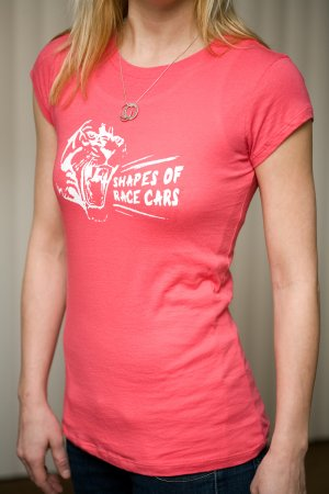 Shapes of Race Cars women's tee