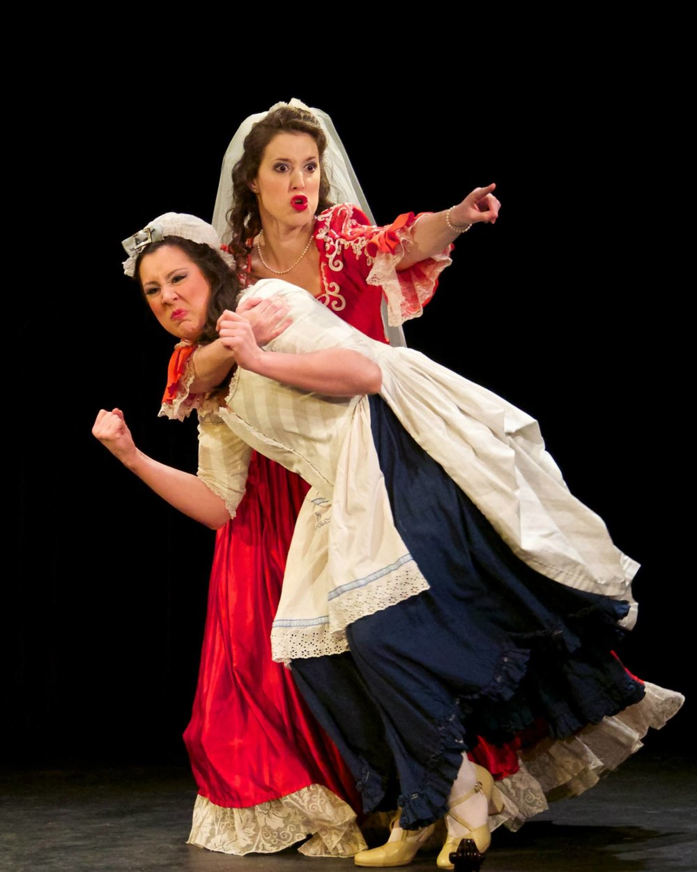 The friendly Clotilde Lombaste ( The New Moon ) with Christina Hager, soprano. (Credit: William Reynolds)