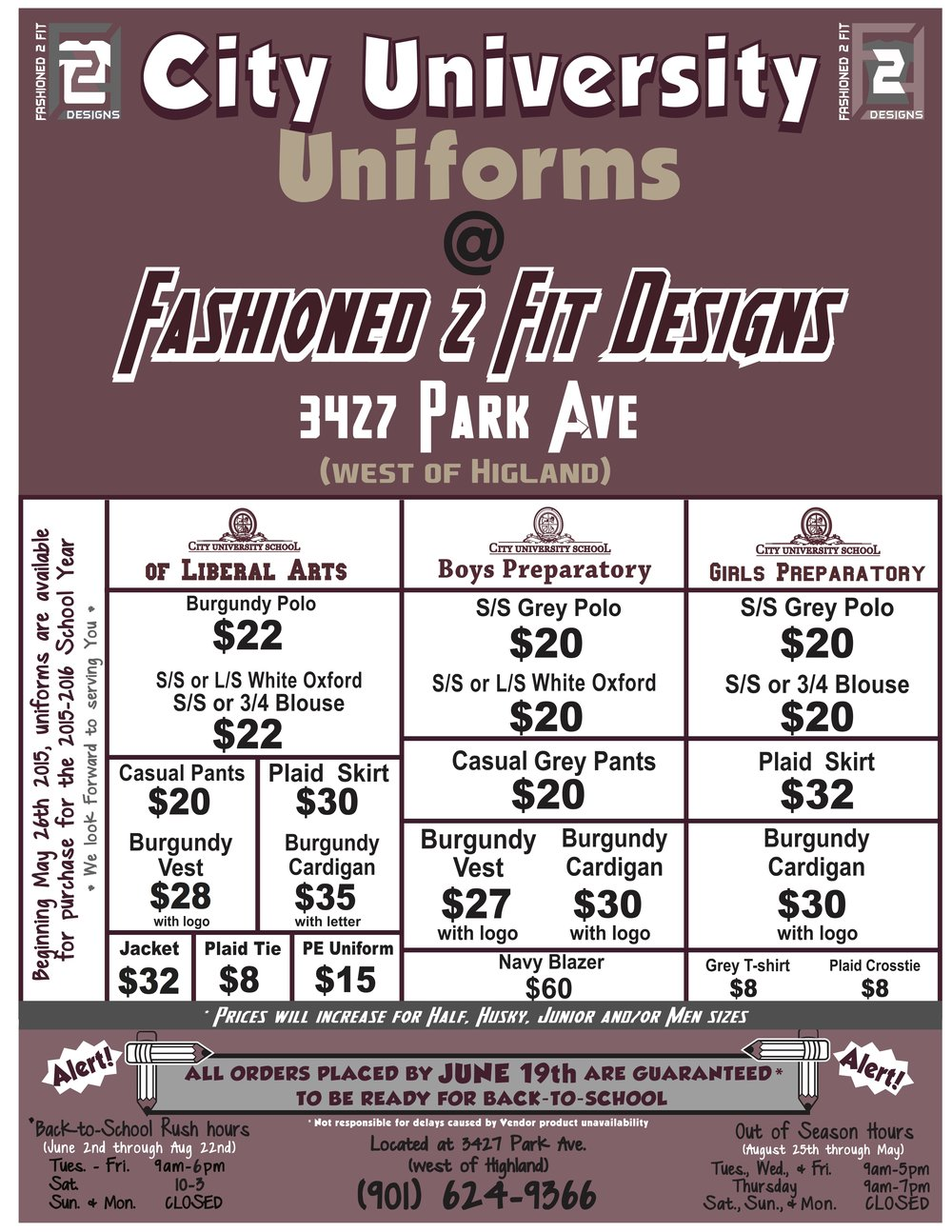 City University Uniform Flyer