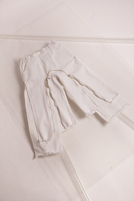 Congregation design at higher studio London - white zipped trousers.jpg
