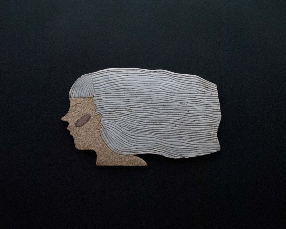Ceramic Wall Piece. From a larger series called  Women of Clay
