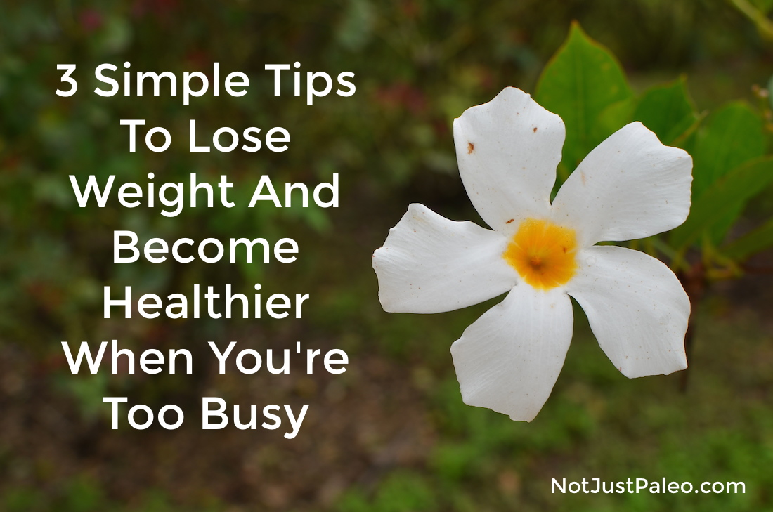 3 Simple Tips To Lose Weight And Become Healthier When You're Too Busy