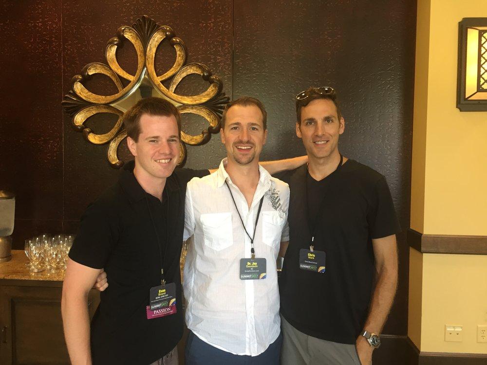 Me, Jay Davidson and Chris Wark