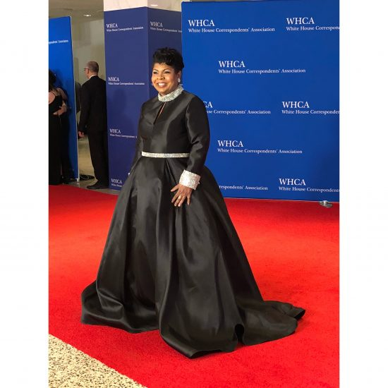 April Ryan, a White House correspondent, arrives. (Rebecca Gibian/RealCLearLife)
