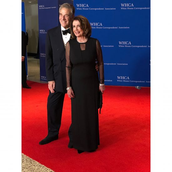 Representative Nancy Pelosi and her husband, Paul. (Rebecca Gibian/RealClearLife)