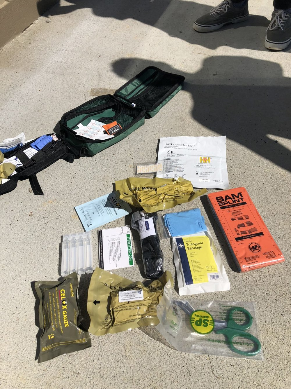 Med kit supplies laid out. (Rebecca Gibian/RealClearLife)