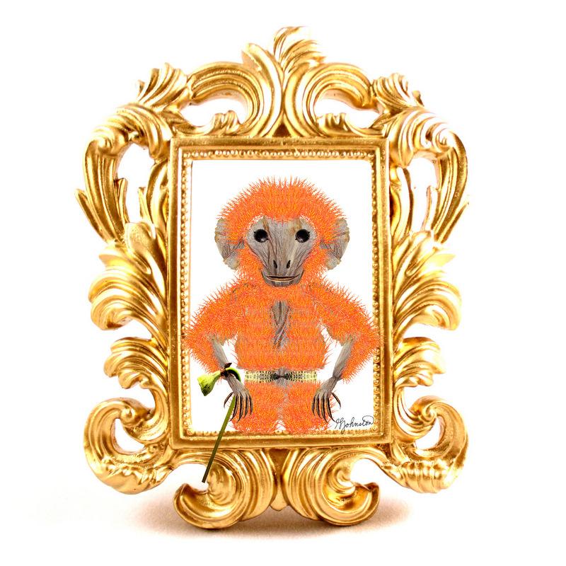 glen_johnston_botnaimals_monkey_framed