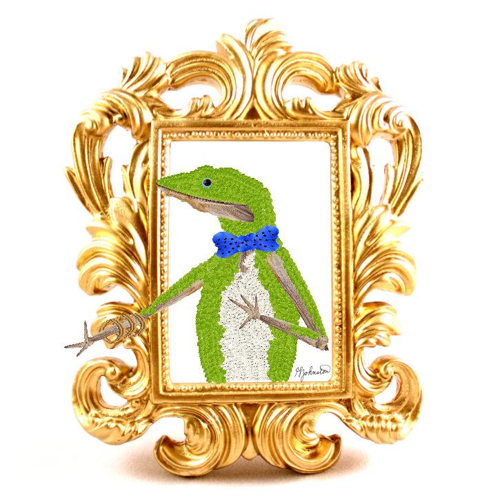 glen_johnston_botnaimals_lizard_framed