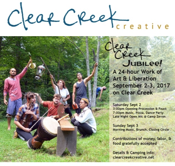 August 2017 Jubilee Invitation from Clear Creek Creative (produced by Carrie Brunk).