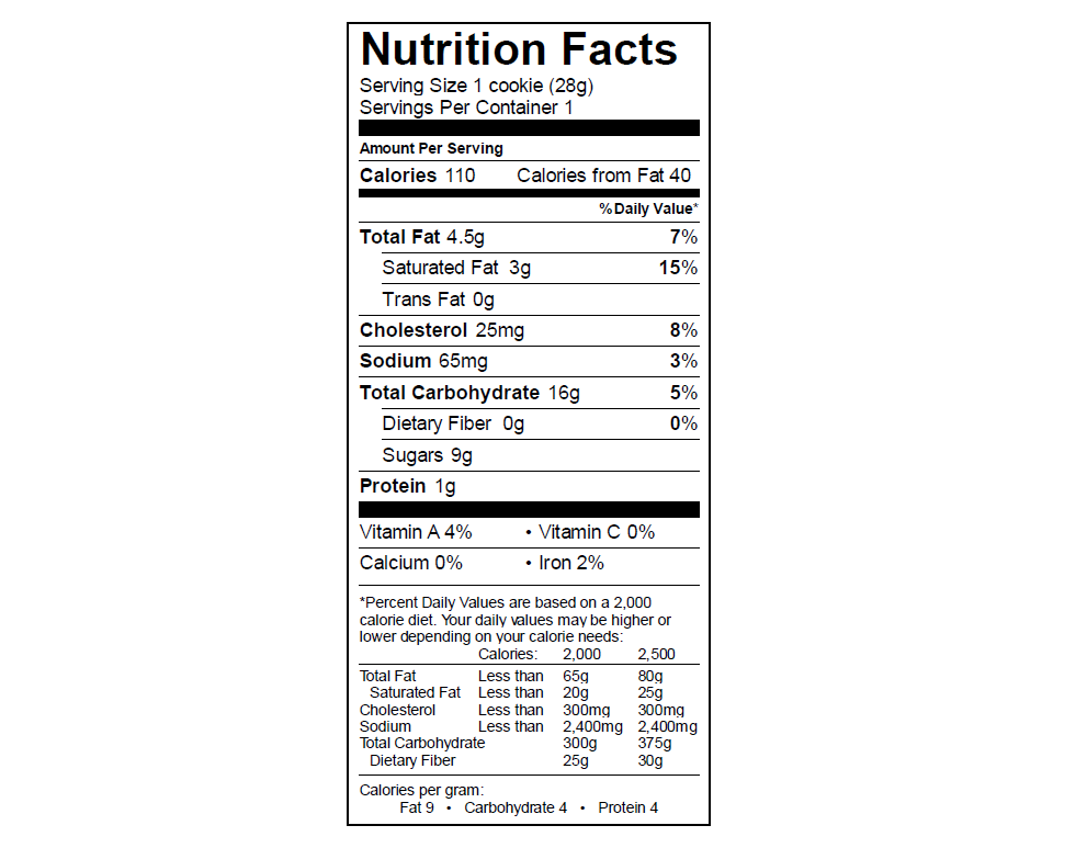 EGO Snickerdoodle Nutrition Info