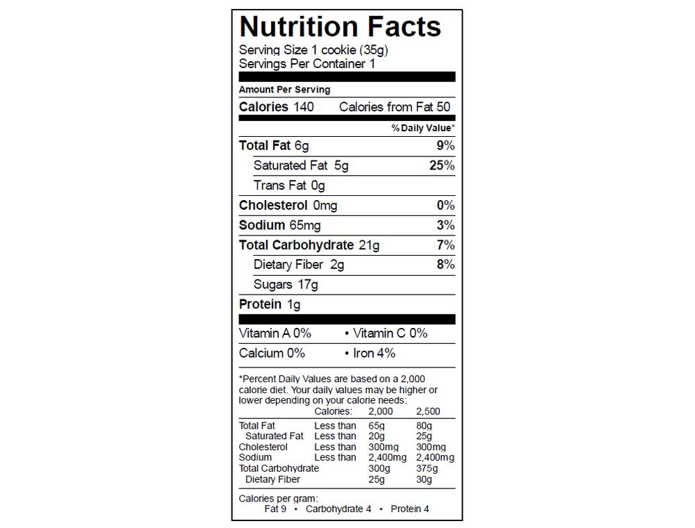EGO Macaroon Nutrition Info