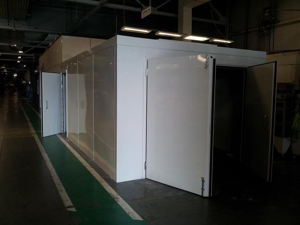 Aisin MFG Sunroof Testing Enclosure, Marion IN