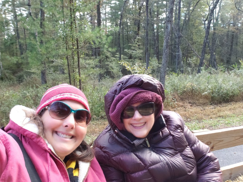 Katrina and her Mom on a hay ride.
