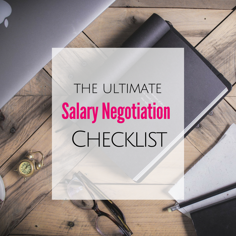 Salary Negotiation Checklist