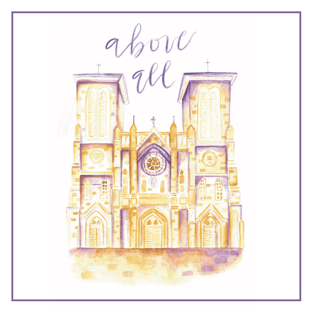 "Above All is a Lenten devotional that includes daily Scripture passages as well as devotional essays, room to journal, and space to organize your time. There is a simple prompt for the ancient prayer form of Lectio Divina each day, and a separate page for the fifth stage, Actio, where the reader is encouraged to examine her conscience and offer forgiveness to herself and to others. Above All is designed to help you reflect on all aspects of your life, particularly those that you may have pushed to the back burner. It's filled with tools to help you discover which areas need greater care and tending, and is meant to inspire and motivate you to become your absolute truest self, so that come Easter, you can flourish as God intended. Readers who enjoyed ""Put on Love"" last year will find similar themes and several familiar essays in this revised and much-expanded edition. Classic essays are nestled among new and expanded design and brand new content, including ten additional essays and lots of gorgeous art. The journal is undated and suitable for Lent any year and adaptable to any time of year. - Read more here"