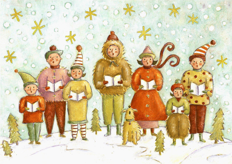 Sudi McCollum/Illustration & Design — Christmas Carollers---Greeting ...