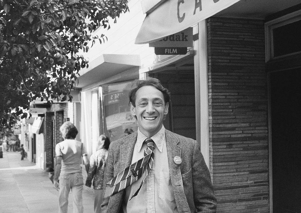 Harvey Milk circa 1977 photograph, copyright 1978, Dan Nicoletta