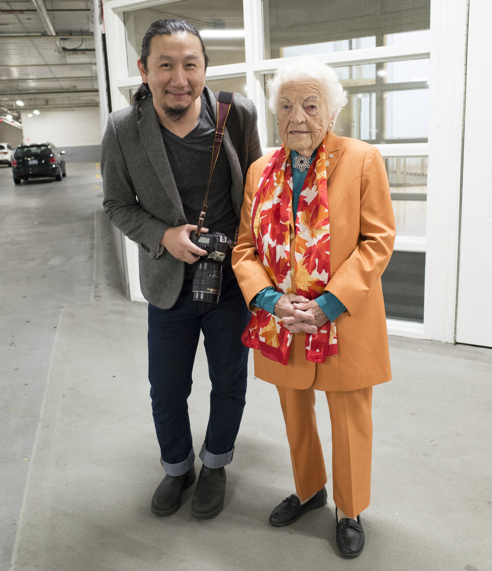 w former Mayor of Mississauga, Hazel McCallion.