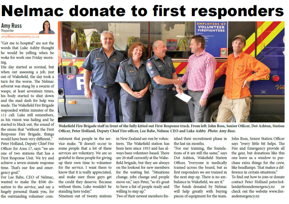 Nelmac donate to Wakefield Fire Department.jpg