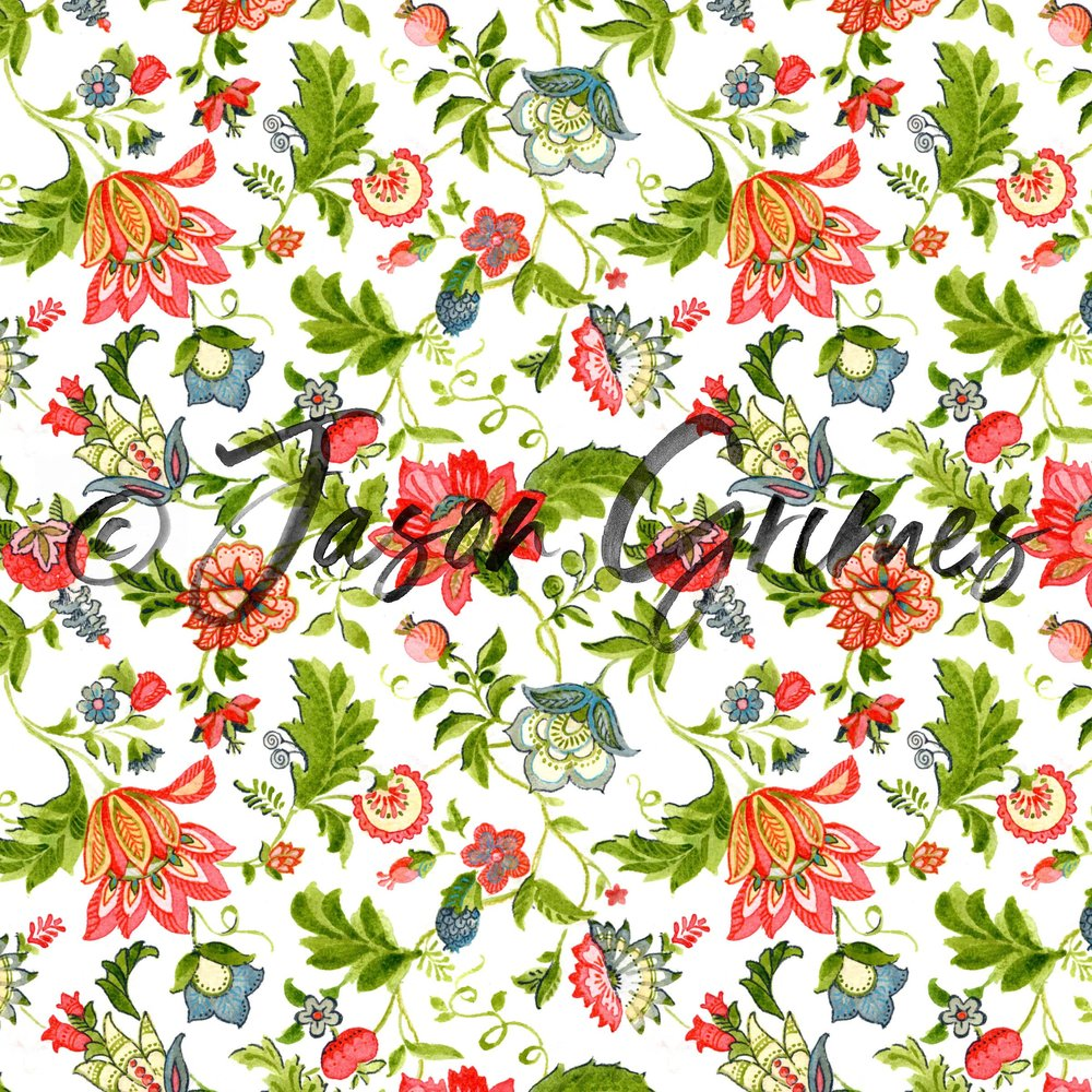 Jacobean Floral - Full Color
