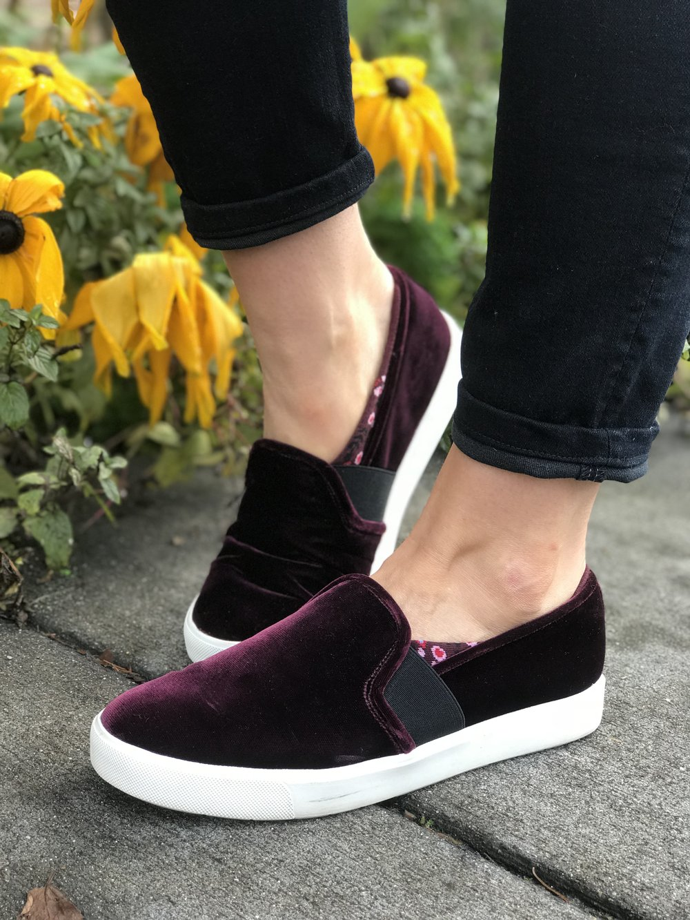 These burgundy velvet beauties by Vince have stolen my heart this winter. I love them with a pair of cuffed jeans, but even with a t-shirt dress and a vest!