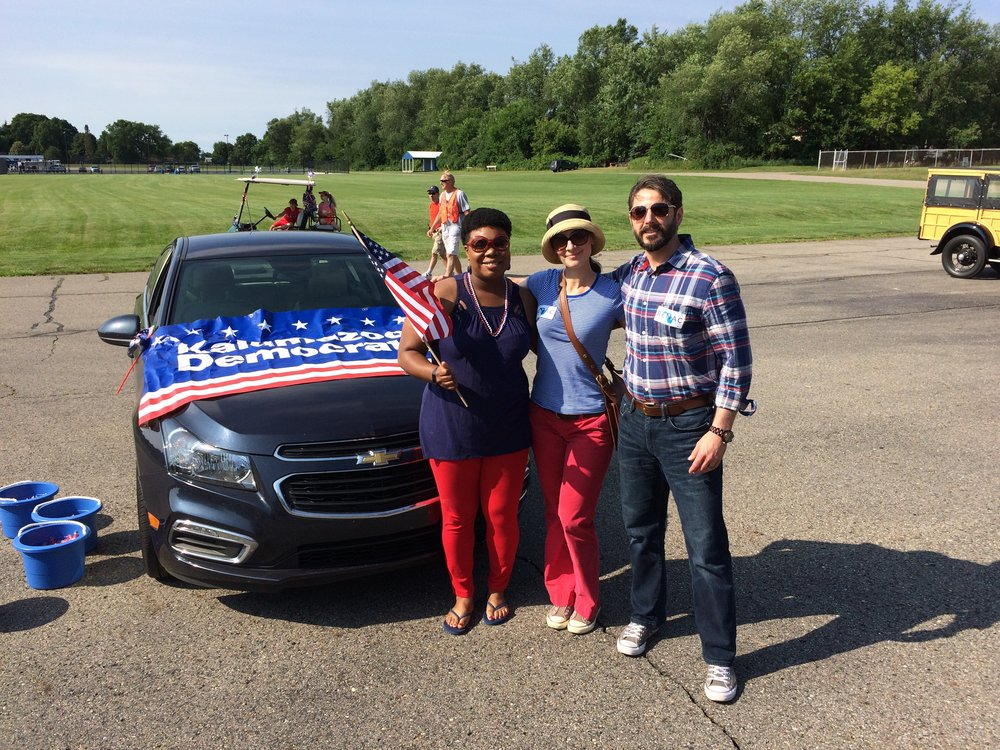 What a wonderful way to spend Independence Day!  We joined Alisa Parker of the Kalamazoo County Democratic Party, walked in the parade, and met some great people in Richland.  Have a safe and happy 4th!