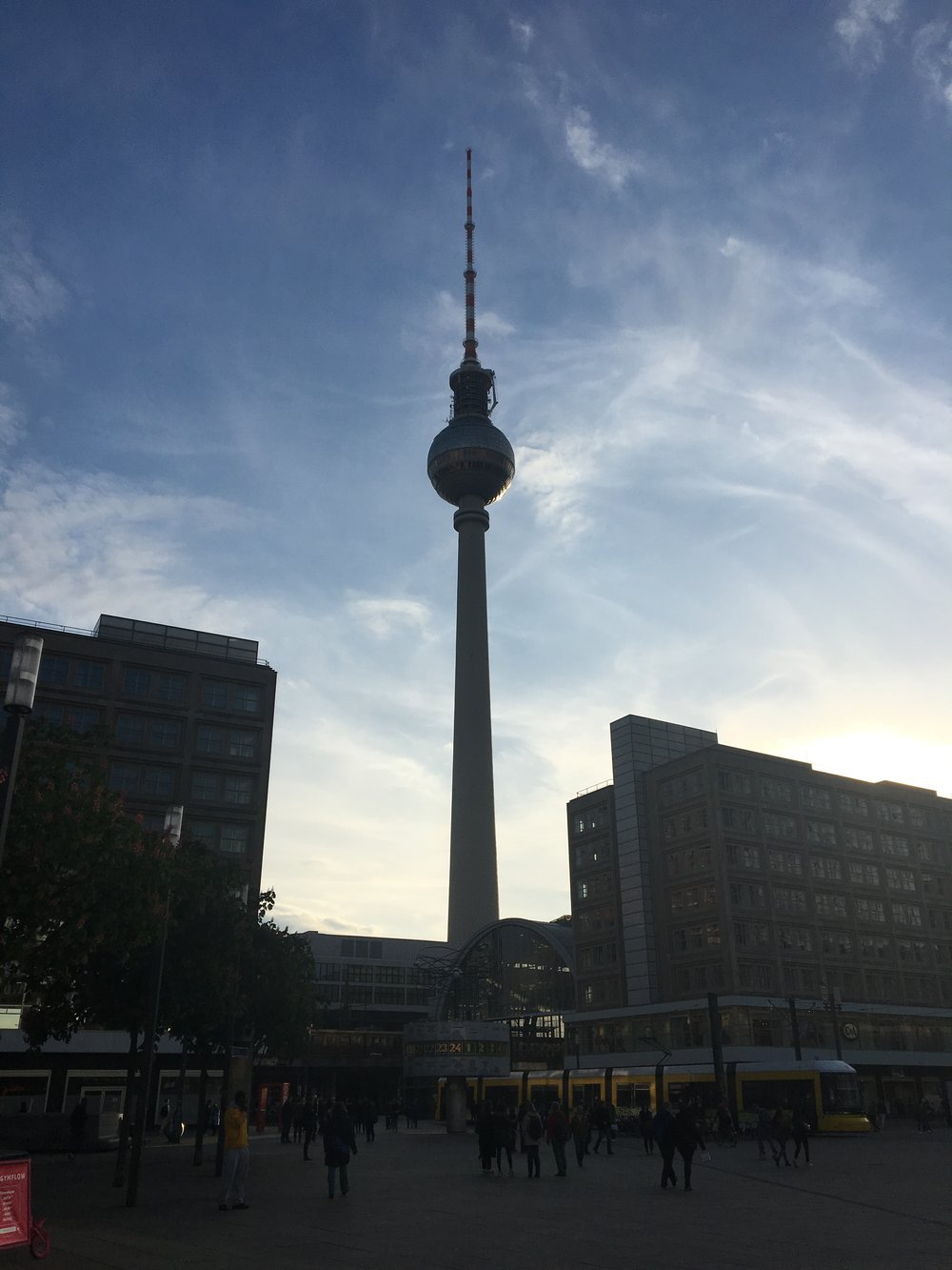 Alexanderplatz at sundown, May 2017