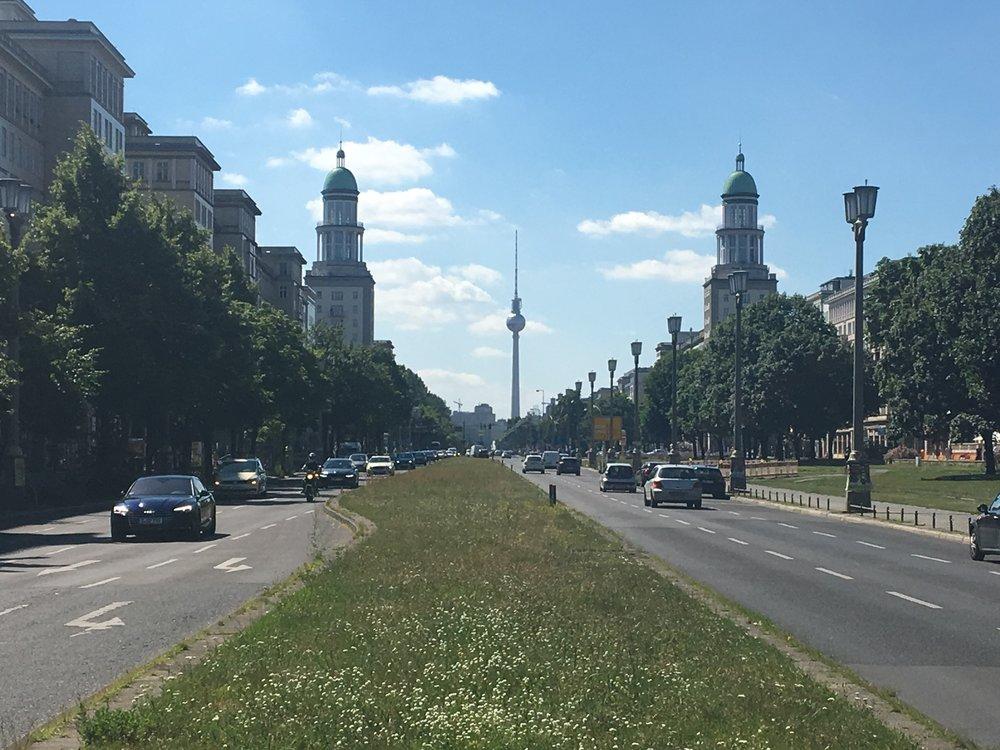 Socialist grandeur. Frankfurter Allee,Berlin-Friedrichshain.July 2017