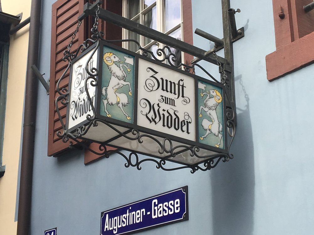 One of Zurich's many guilds. November 2017