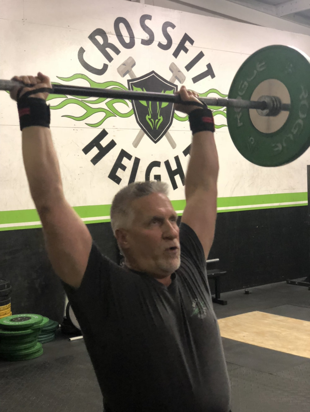Robert is CrossFit Heights oldest member.  Not because he just turned 60, but because he started crossfitting with us in 2009!!!
