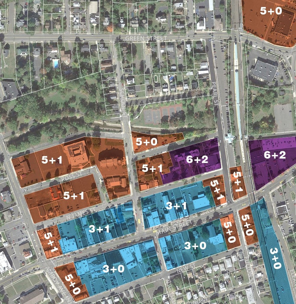 Downtown WoodbridgeVision Plan, height map