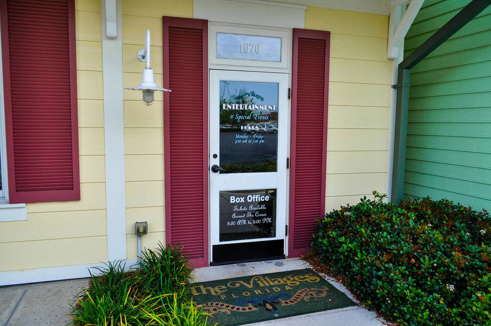 THE VILLAGES ENTERTAINMENT OFFICE - 1070 CANAL STREETTHE VILLAGES, FL 32162M-F | 9AM-5PM