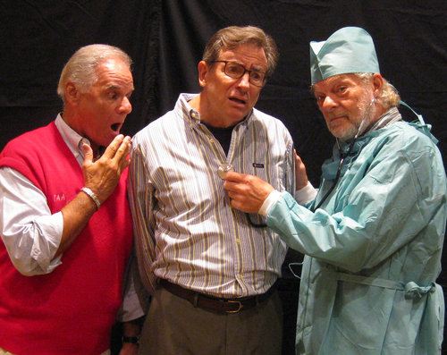 Pictured left to right: Dr. Morrissey ( Lon Abrams ) George Kimball ( Jack Filkins ) Arnold Nash ( Tony Oteri ) Arnold look so concerned! Could there be something wrong with George?