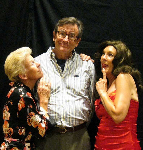 Pictured left to right: A Girl ( Barb Pearson ) George Kimball ( Jack Filkins ) Miss Mason ( Joyce Schenk ) Is George cheating on Judith? What is going on?