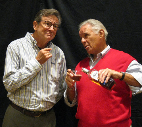 Pictured left to right: George Kimball ( Jack Filkins ) Arnold Nash ( Tony Oteri ) Poor Arnold has been so worried about George and is reciting a eulogy he wrote for him while having a drink to dull his pain.