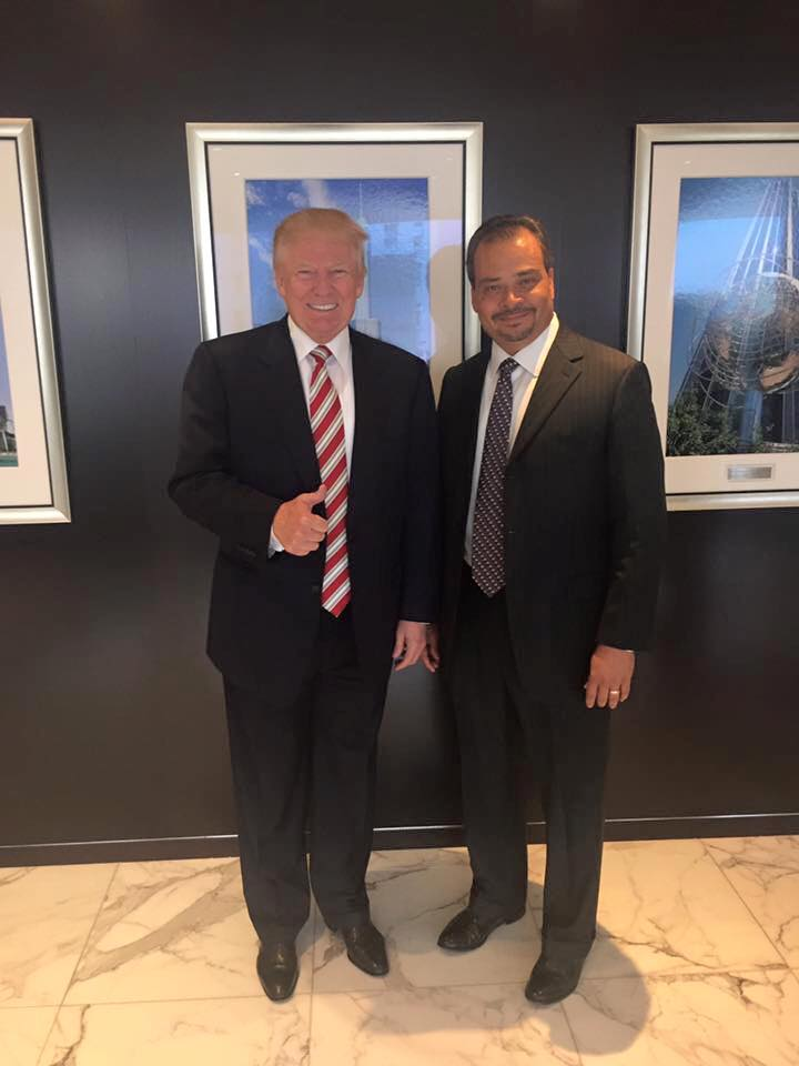 Rick Figueroa pictured with President Donald J. Trump at Trump Tower, NYC.