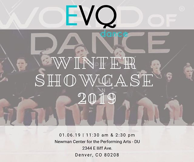 It's recital week!  What a better way to kick off the New Year! Have you bought your tickets yet? . . .  #evq #evqelitedance #squad #evqsquad #dancestudio #denverdancestudio #hiphop #hiphopstudio #denverhiphopstudio #danceclass #denverspremierhiphopstudio #danceclass #welovetodance #adultdanceclass #elitedancers #competitiondanceteam #danceconvention #dropindanceclass #dancelessons #dance #danceteachers #denverspremierhiphopstudio #learntodance #dancetechnique #hiphopvibes #dancevibes #comedancewithus  #recital #recitalweek  #wintershowcase