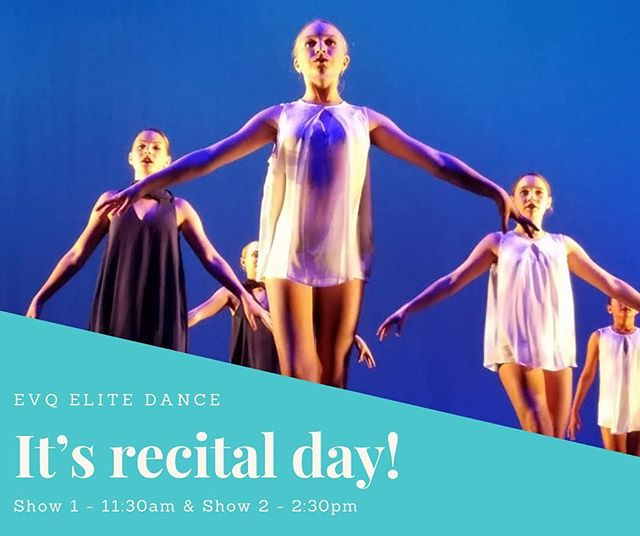 It's Recital day! We are so excited to share with you all the amazing talent and hard work our staff and kids have put in these past few weeks.  Show 1 - 11:30am Show 2 - 2:30pm . . We love seeing your day of recital pics and videos. Make sure to tag us and use #evqwintershowcase . . So sit back and enjoy the show!