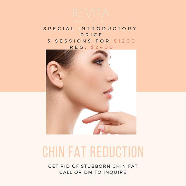 Do you have unwanted chin fat? Let us help you achieve the results you've always wanted... For a limited time we our offering our chin fat reduction treatment at a reduced price. Give us a call at (905)-990-7546 to book a FREE consultation.