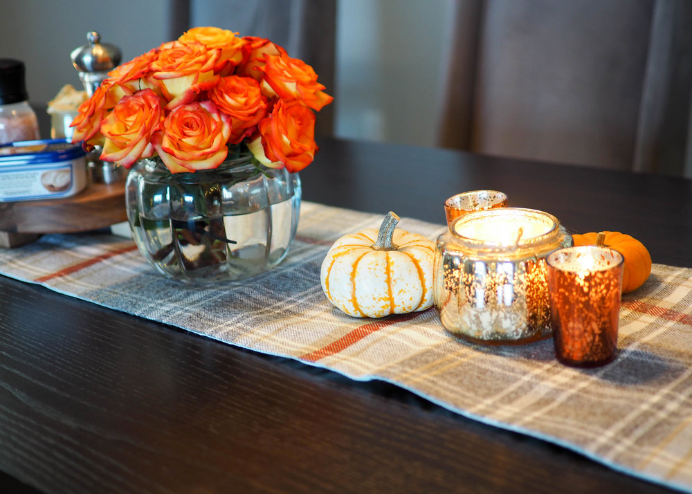 Candles ,  Table Runner