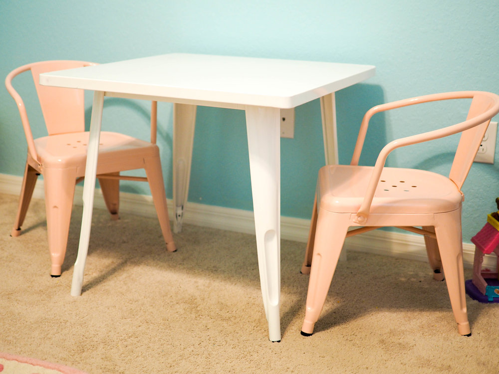 Table ,  Chairs  (light pink is no longer listed as available)