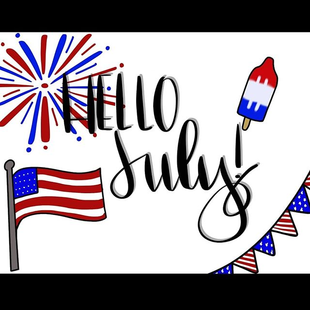 Hello July! #ipadlettering #hellojuly #hollypixels #calligraphy #doodles #doodlesofinstagram #letteringchallenge