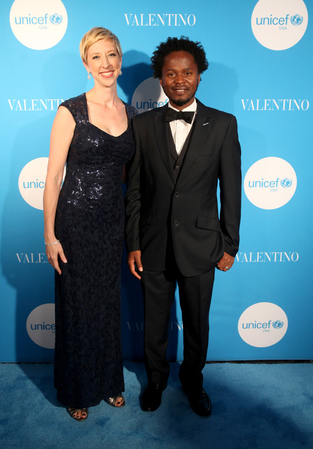 Northwest Regional Managing Director Emily Brouwer with UNICEF Goodwill Ambassador Ishmael Beah (Photo by Getty Images)