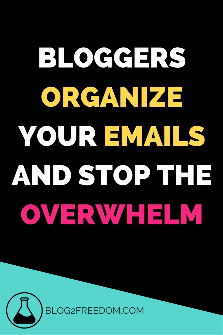 Are you overwhelmed with all the emails you get since becoming a blogger? This helps you sort them out and get organized so you don't miss anything important!