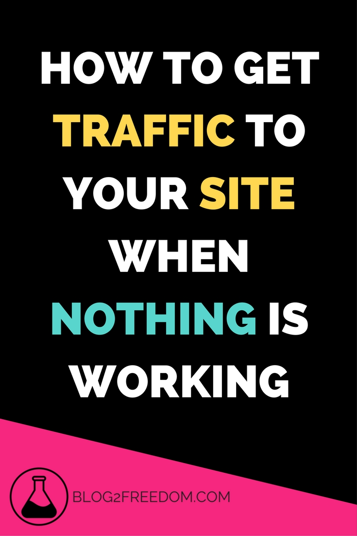 How to get people to your site when nothing is working. A different way of looking at it. Increase your daily traffic and watch the pageviews roll up!